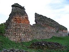 Belarus-Kreva Castle-Wall