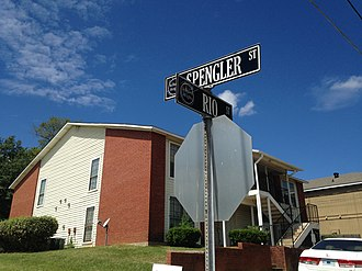 National Register of Historic Places listings in Hinds County, Mississippi - Image: Belhaven Heights Historic District Rio and Spenglar