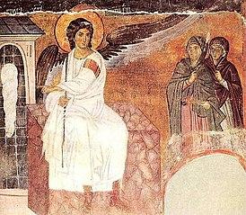 Fresque de l'Ange blanc