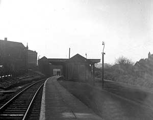 Belmont railway station (Harrow) - Belmont railway station in 1957