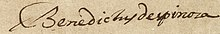 Benedictus de Spinoza - Letter in Latin to Johannes Georgius Graevius (Epistolae 49), 14 December 1664 - Signature.jpg