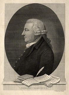 Benjamin Cooke English composer and organist