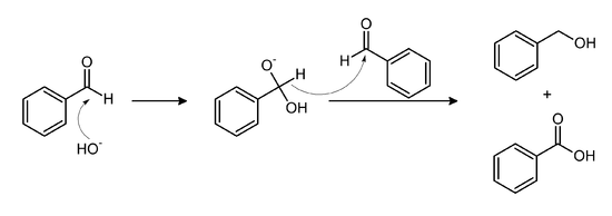 Benzaldehyde Cannizzaro reaction.png