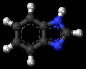 Benzimidazole - Image: Benzimidazole 3D balls