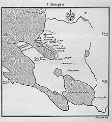 Mappa di Bergen nel XIII secolo.
