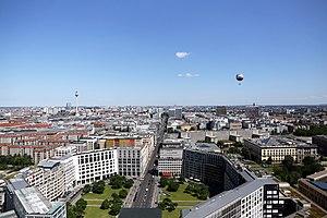 Leipziger Platz - Leipziger Platz from above, 2016