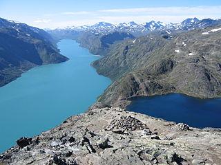 Gjende lake in Lom and Vågå, Oppland, Norway