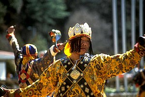 Culture of Bhutan - A music parade in Bhutan.