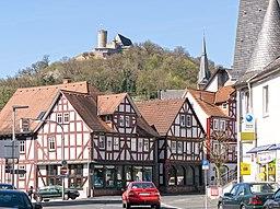 Schloss Biedenkopf über der Stadt