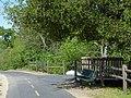 Bike trail bench at Willow Creek near Riley - panoramio.jpg