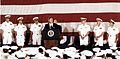 Bill Clinton on USS Eisenhower (CVN-69) in 1994.jpg