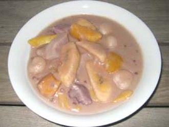 Binignit - Binignit with saba bananas, taro, jackfruit, and ube (purple yam)