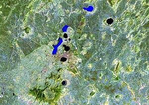 Bishoftu - Image: Bishoftu volcanic field