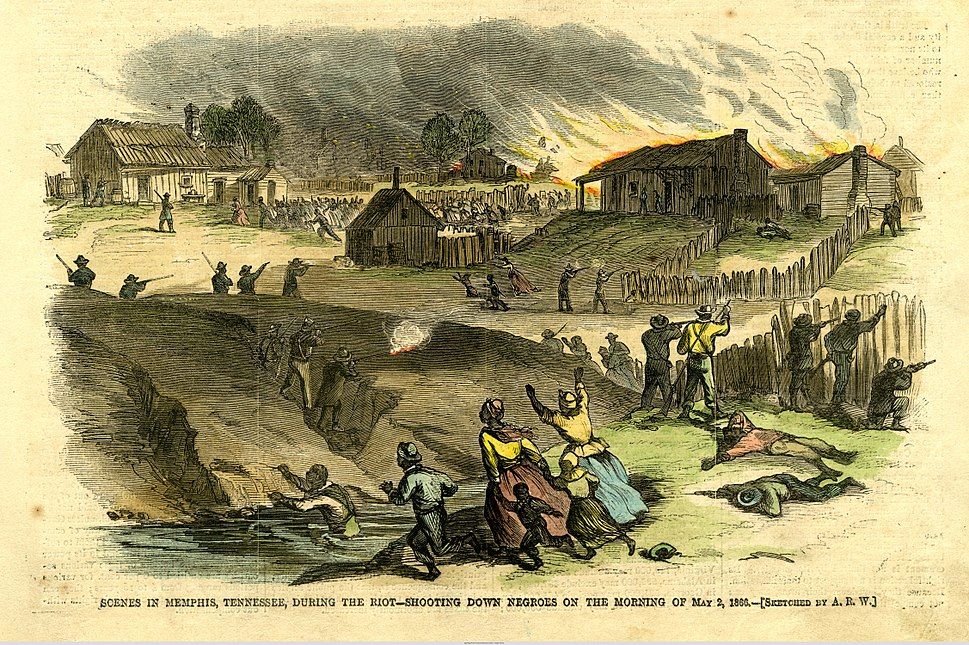 Black Americans attacked in Memphis Riot of 1866