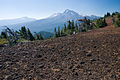 Black Crater Summit - looking south to Three Sisters (4103933426).jpg