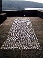 Black pebble inlay - St Nicholas Chapel - geograph.org.uk - 1820310.jpg