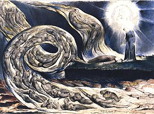 Medievalism - William Blake's The Lovers' Whirlwind illustrates Hell in Canto V of Dante's ''Inferno''