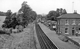 Blake Hall tube station - View westward, towards Epping in 1961