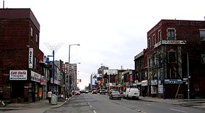 Bloordale Village - Facing west (towards Lansdowne) on Bloor St.