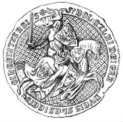 Bolesław III Rozrzutny seal 1337.PNG