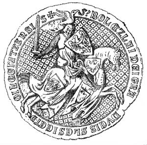 Bolesław III the Generous - Bolesław III's seal, dated to 1337.