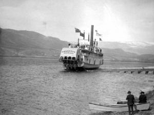 Bonnington (sternwheeler) - Launching of Bonnington at Nakusp, BC, April 1911