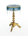 Bord med pärbroderi, 1860-tal - Hallwylska museet - 110098.tif