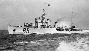 Turbine-class destroyer - Destroyer Borea at full speed