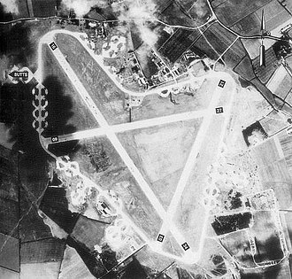 RAF Boreham - RAF Boreham photographed on 20 April 1944.   Throughout much of the postwar years, Ford Motor Company preserved much of the airfield as a proving ground, however in recent years extensive quarrying has removed much of the south part of the airfield.
