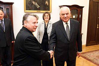 Bogdan Borusewicz - Marshal Bogdan Borusewicz with Albanian President Alfred Moisiu