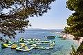 Bouncy castle in the Adriatic Sea of Bol, Croatia (48693876436).jpg