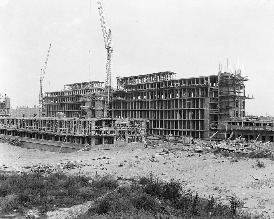 bestand:bouw rode kruis ziekenhuis in den haag, bestanddeelnr 908