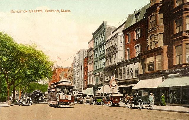 Boylston Street, Boston, Massachusetts; from a 1911 postcard published by Valentine & Sons, New York