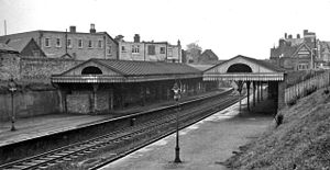 Branksome railway station - The station in 1963