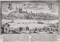veduta de Bratislava et de son château en 1735