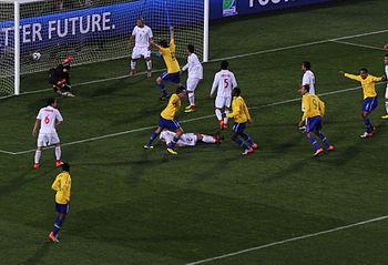 Brazil %26 Chile match at World Cup 2010-06-28 3