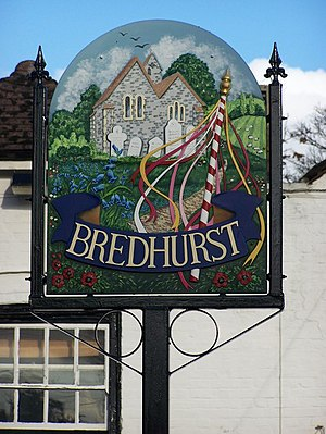 Bredhurst - Image: Bredhurst Village Sign geograph.org.uk 1044559