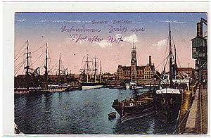 Ports of Bremen - Bremen free port in 1918