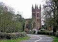 Bridgnorth Road and Enville Church, Staffordshire - geograph.org.uk - 1804492.jpg