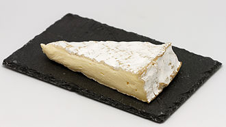 French paradox - Cheese, like this Brie de Meaux, is high in saturated fats, and is a popular food in French cuisine.