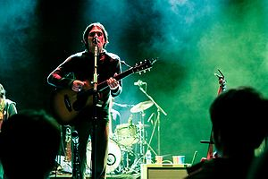 Conor Oberst of Bright Eyes performs at the Lied Center in Lawrence, Kansas on October 23, 2007