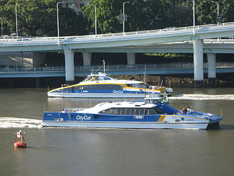 Transdev - Transdev Brisbane Ferries CityCats on the Brisbane River