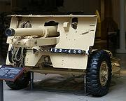 British 25 pounder Quick firing Mark II gun at the Imperial War Museum