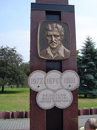 Bronisław Malinowski (athlete) - Memorial to Malinowski in front of the Grudziądz stadium.