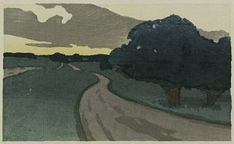 Arthur Wesley Dow - The Long Road--Argilla Road, Ipswich, 1898, Brooklyn Museum