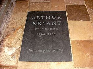 Arthur Bryant - Bryant's grave in Salisbury Cathedral