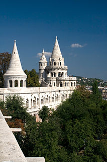 Fishermans Bastion building in Budapest, Hungary