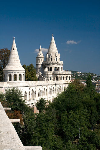 Fisherman's Bastion - One of the seven towers of Fisherman's Bastion.