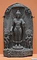 Buddha with Avalokitesvara and Maitreya Inscribed - Basalt - ca 10th Century CE - Pala Period - Bihar - ACCN NS2072 - Indian Museum - Kolkata 2016-03-06 1557.JPG