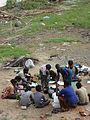 Building laborers food time at work place, Chennai (1).JPG